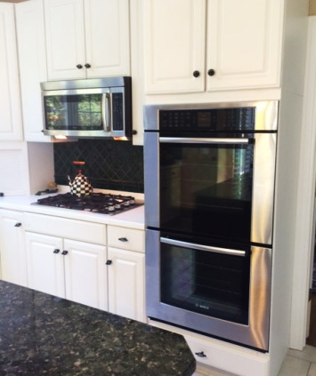 Bosch Double wall oven,GE Profile Gas Cooktop