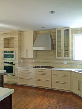 Vent-a-hood,Wolf cooktop, Kitchenaid wall oven and microwave