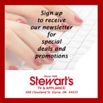 sign up for Stewart's email