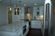 GE Cafe range, Sharp microwave drawer and Zephyr hood
