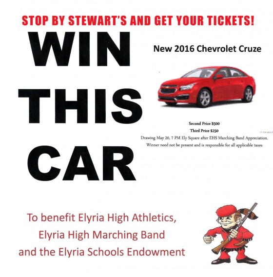 Buy tickets at Stewarts' to win a Chevy Cruz